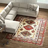 Amazon Brand – Stone & Beam Traditional Opulence Rug, 8' x 10', Burgundy
