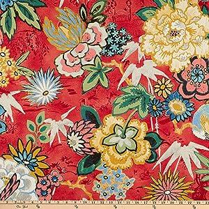 P Kaufmann Dailiang Twill Peony Fabric by the Yard