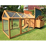 Pets Imperial Double Savoy Large Chicken Coop With 2 Nest Boxes and Run Suitable For Up To 10 Birds Depending on Size