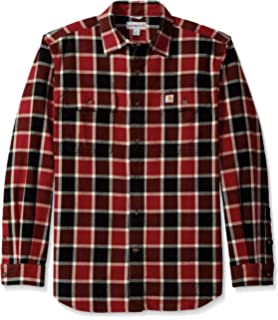 1324a1a82c8 Amazon.com  Carhartt Men s Long Sleeve Snap Front Flannel Shirt ...