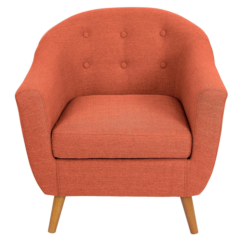 Amazon Mid Century Retro Modern Style Rust Orange Button