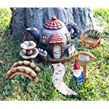 Fairy Garden Kit Accessories Set 6pcs, Hand Painted Gnome Statues, Indoor and Outdoor Decor Gifts