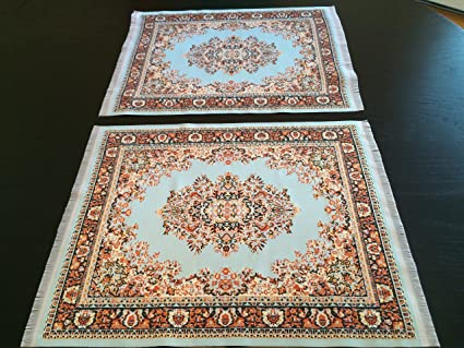 Amazoncom Set Of Rug Placemats Woven Carpet Table Mats - Dining table carpet mat