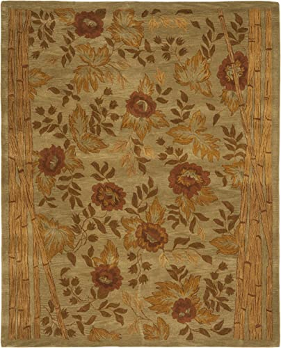 Safavieh Hampton Collection HA541A Handmade Multicolored Premium Wool Area Rug 9' x 12'