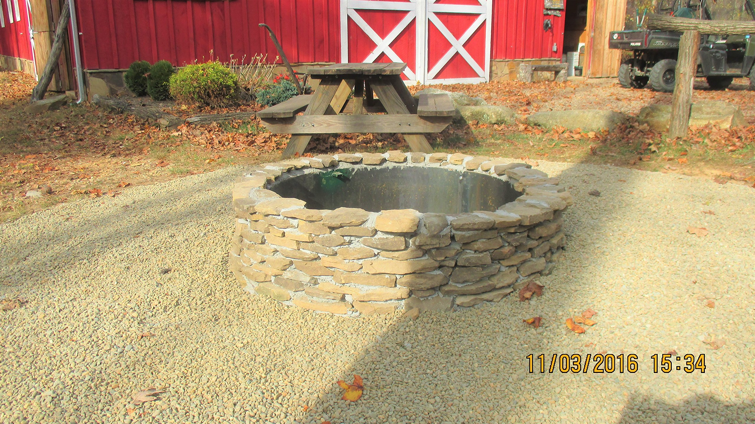 Steel Fire Pit Ring Liner Metal Insert 16'' Deep x 45'' Deep by Higley Stainless Steel Metal Fire Pits