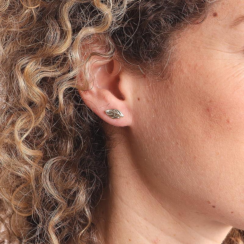 Tiny Leaf Studs \u2022 Petite Vine Studs \u2022 Small Plant Post Earrings \u2022 Simple Minimal Earrings \u2022 Sterling Silver Leaves \u2022 Delicate Stud Earrings