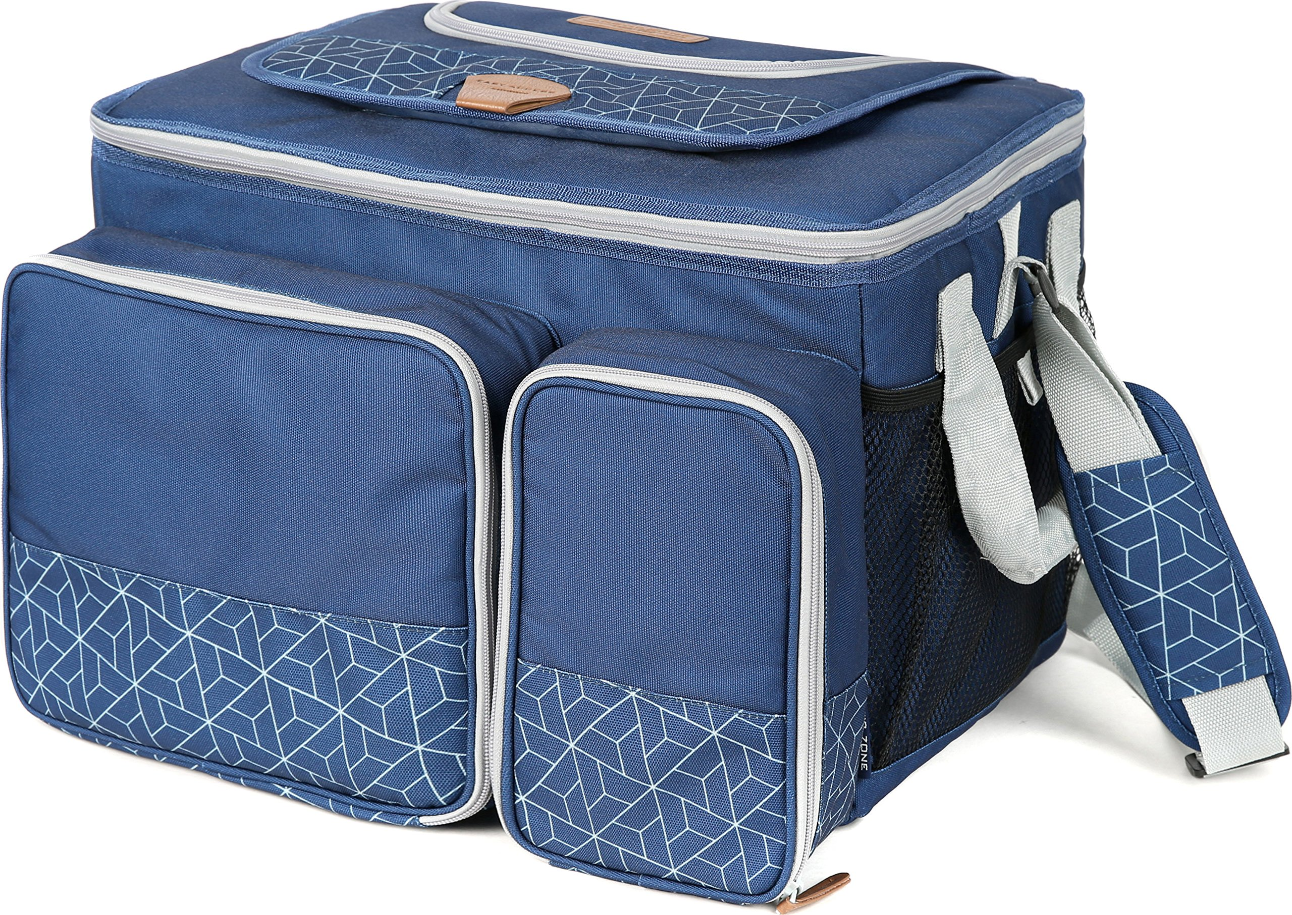 Arctic Zone 2014ILA18006 Hot/Cold Insulated Collapsible Picnic Cooler, Navy