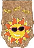Hot Sun With Sparkle Sunglasses Burlap Garden Flag