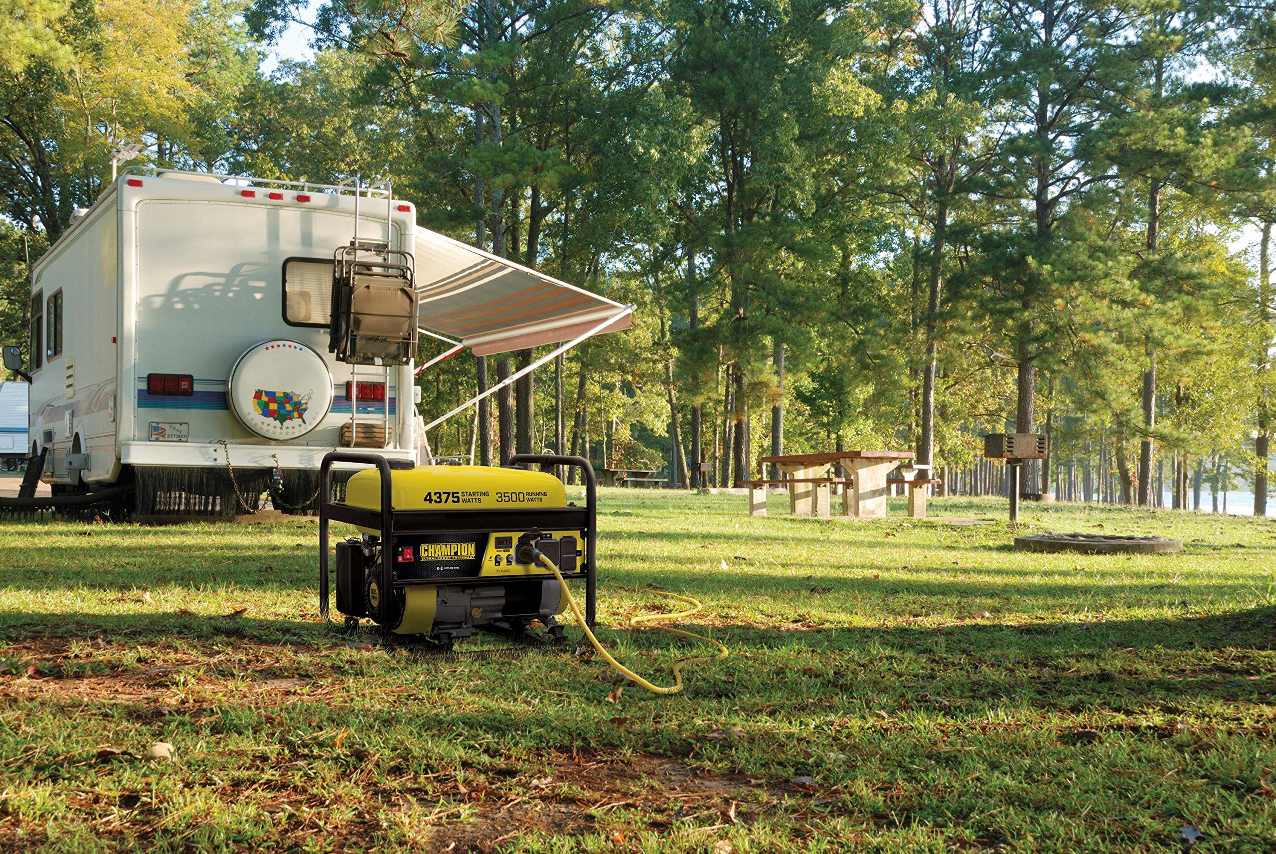 Champion Power Equipment 100555 RV Ready Portable Generator, Yellow and Black by Champion Power Equipment (Image #4)
