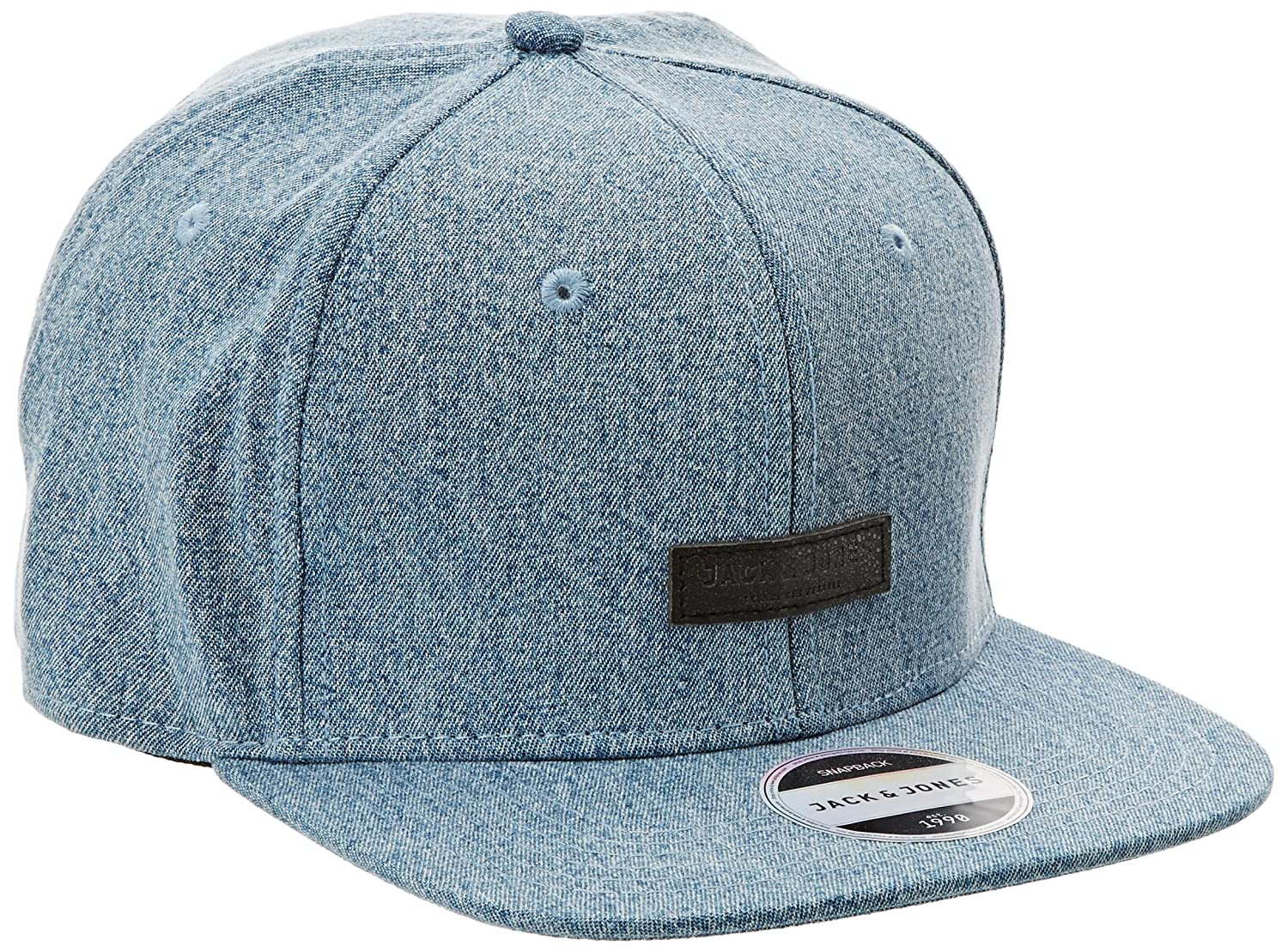 JACK & JONES Acdenim Gorra, Azul (Light Blue Denim), Talla única ...