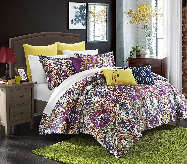 Amazon Perfect Home 8 Piece Dubai Reversible forter Set