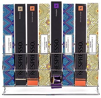 Babavoom® Almacenador exhibidor de cápsulas Nespresso para Mueble o Pared |con Capacidad para 80 cápsulas a través de Cajas con garantía de Calidad N8: ...
