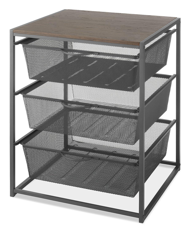 CDM product Whitmor Wood & Metal 3-Drawer Chest big image