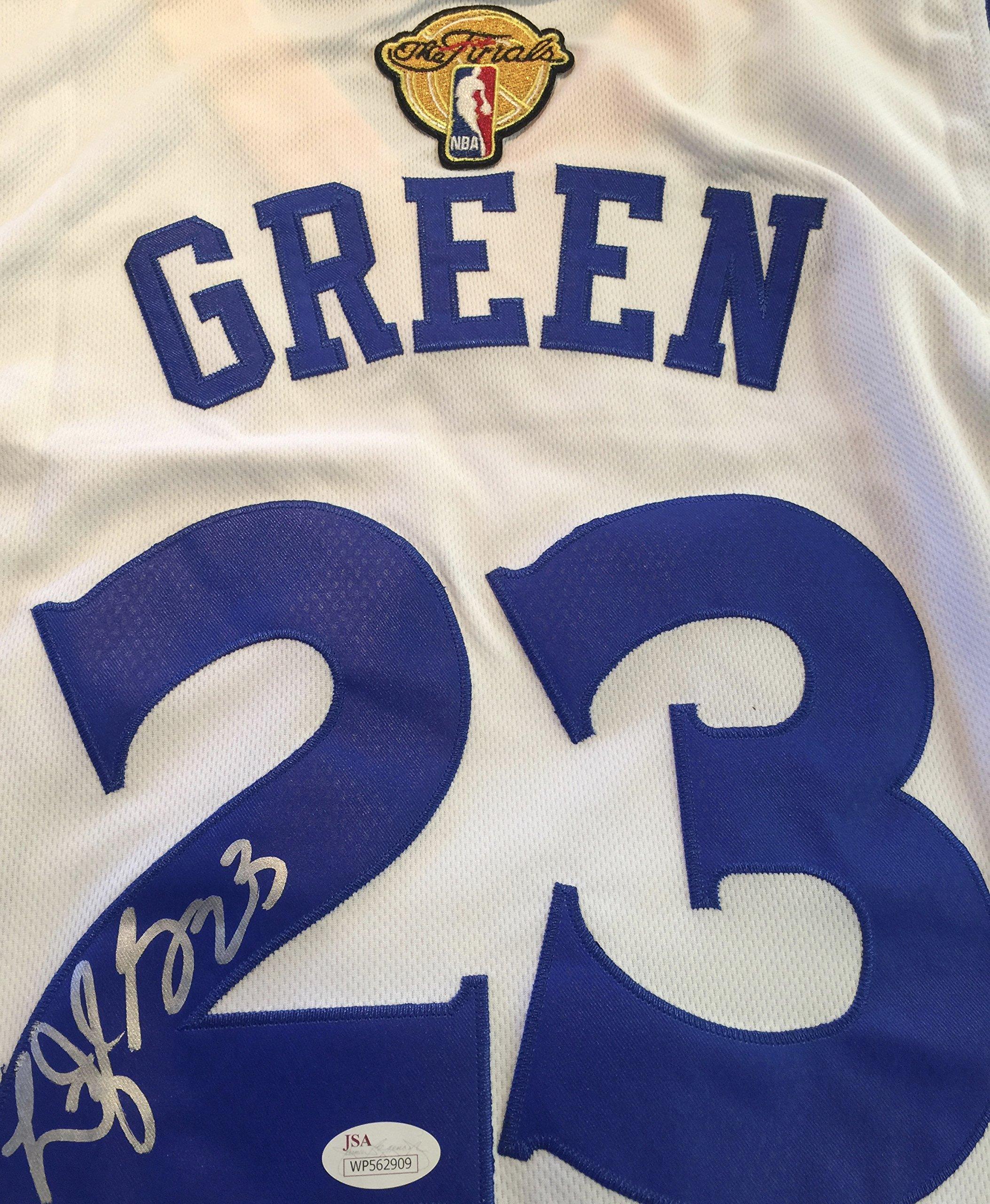 Draymond Green GSW Signed White Jersey JSA WP Certified Autographed NBA Jersey by Draymond Green
