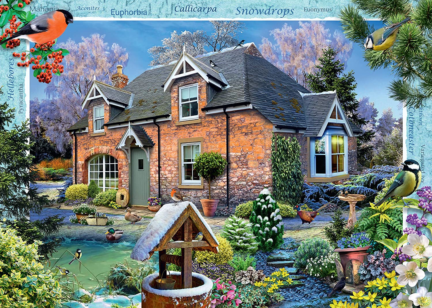 Ravensburger Country Cottage Collection No.11 1000pc Jigaw Puzzle Snowdrop Cottage