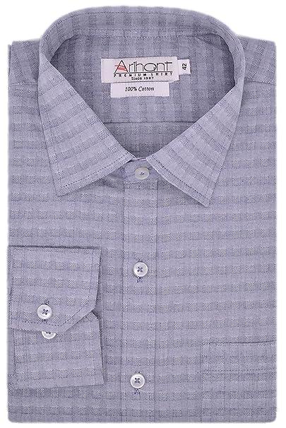 5897d4bb53b52 Arihant Men's 100% Cotton Full Sleeves Formal Shirt ...