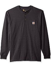 Carhartt Mens Workwear Pocket Long Sleeve Henley T-Shirt