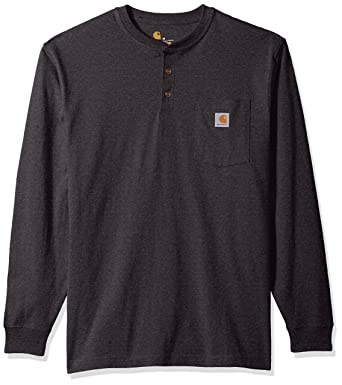 8f007665 Carhartt Men's Workwear Pocket Long Sleeve Henley, Carbon Heather, Small
