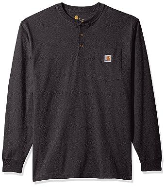 a40279b9 Carhartt Men's Workwear Pocket Long Sleeve Henley at Amazon Men's Clothing  store: