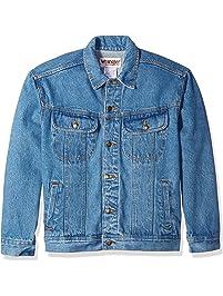 Wrangler Mens Men's Classic Denim Jacket - Motorcycle Edition Button-Down Shirt
