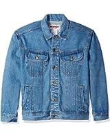 Wrangler Men's Classic Denim Jacket-Motorcycle Edition