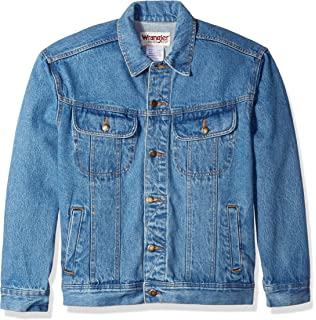 Wrangler Mens Classic Denim Jacket Motorcycle Edition