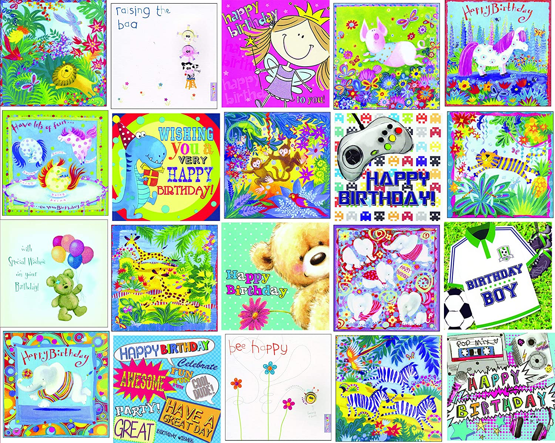 Amazon.com: Kids Super valor paquete mixto 20 cumpleaños ...