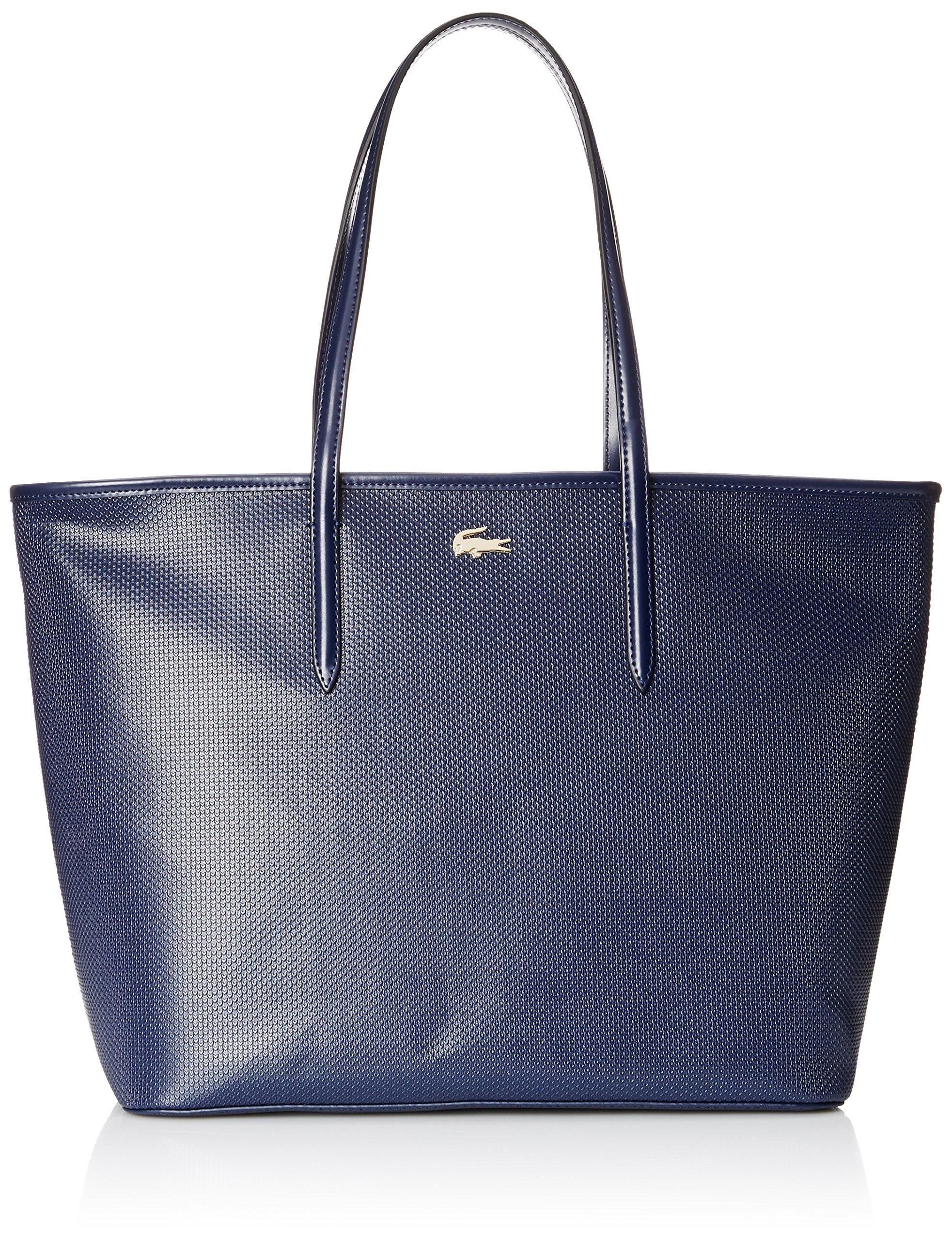 Lacoste Women's Chantaco Medium Tote Shoulder Bag, Peacoat, One Size