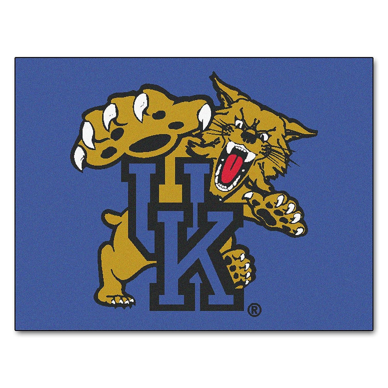 FANMATS NCAA University of Kentucky Wildcats Nylon Face All-Star Rug