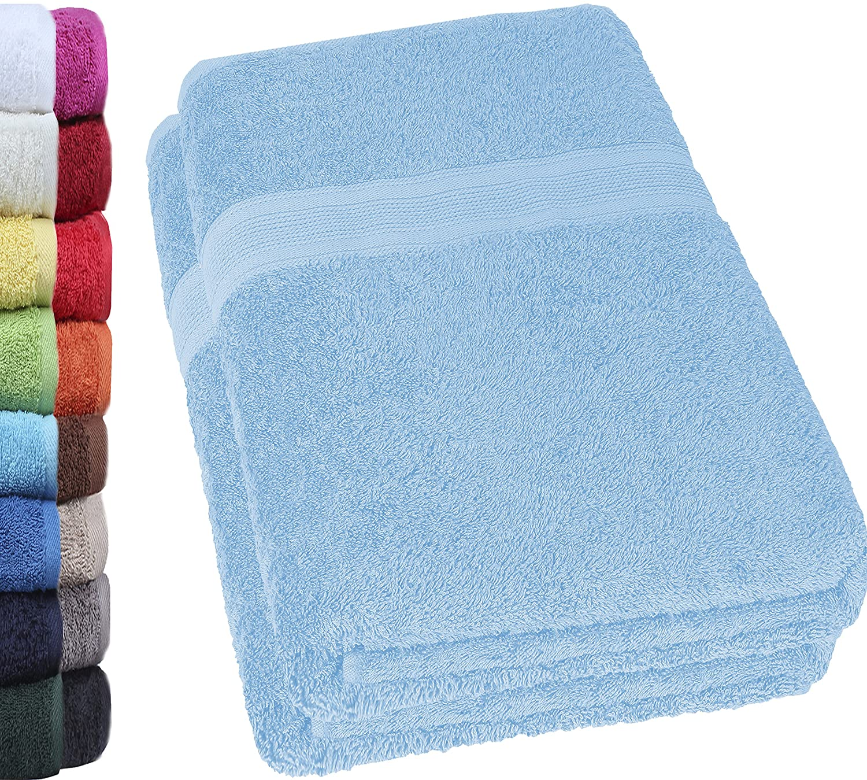 70/x 140/cm 100/% cotone NatureMark Mark naturale Confezione da asciugamani da doccia 70/x 140/cm Rosa 2/