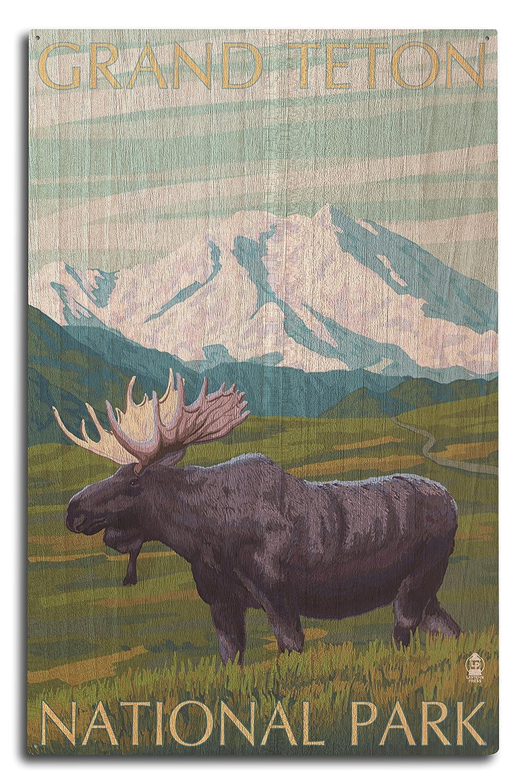 【最安値挑戦!】 グランドティトン国立公園 – ムースと山 12 x x 18 Wood Art Sign Print LANT-23848-12x18 B07364GNP8 10 x 15 Wood Sign 10 x 15 Wood Sign, 小郡町:ce29d1b9 --- domaska.lt