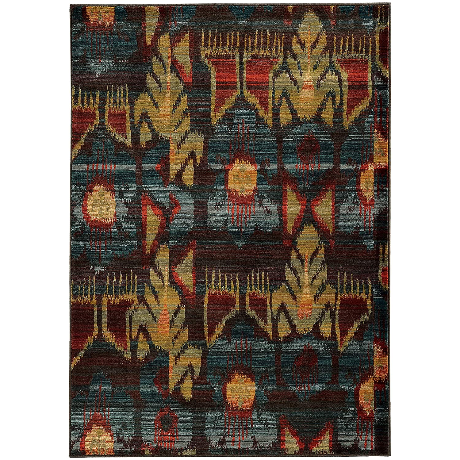 Christopher Knight Home CK-H8734 Sienna Tribal Indoor Area Rug 1ft 10in X 3ft Grey,Blue
