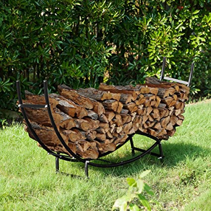 Tremendous 1910 Earth Worth Firewood Curved Log Rack 5 Ft Black Alphanode Cool Chair Designs And Ideas Alphanodeonline