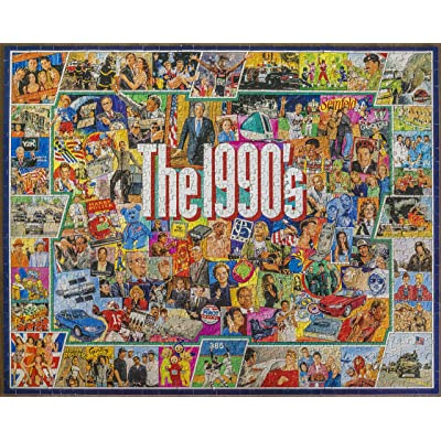 White Mountain Puzzles - The 1990s - 1,000 Piece Jigsaw Puzzle: Toys & Games
