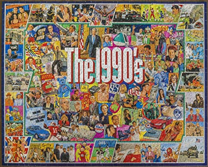 White Mountain Puzzles The 1990s - 1000 Piece Jigsaw Puzzle
