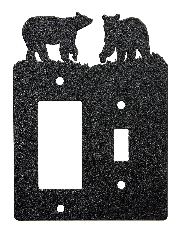 Bear Toggle Light Switch Single Gang Rocker Gfci Wall Plate Single Toggle With Gfci Rocker Black Amazon In Home Kitchen