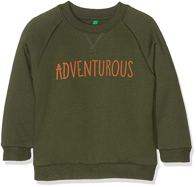 United Colors of Benetton 3BUYC12WL, Sudadera para Niños, Verde (Green) 7-