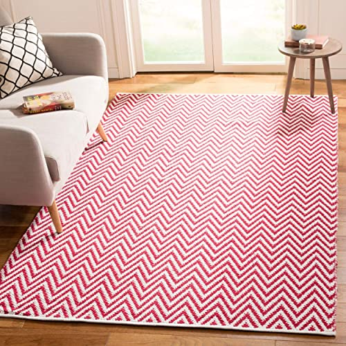 Safavieh MTK717B-24-P Montauk Collection Vintage Area Rug 5 x 8 Red Ivory