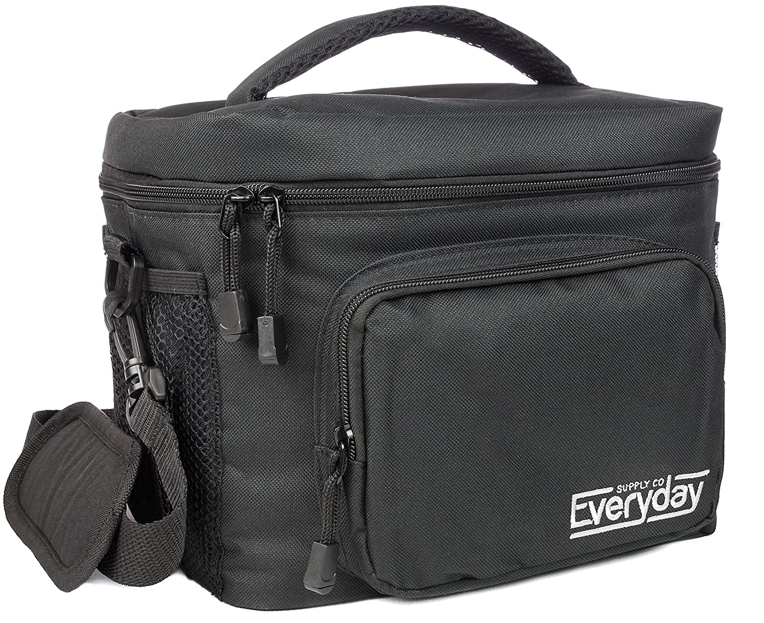 Insulated Lunch Box / Bag - Freezer Safe, Nylon Durability, Zip Closure - Cooler Lunch Bag for Men, Women and Kids - Locks in Heat & Cold Everyday Supply Co
