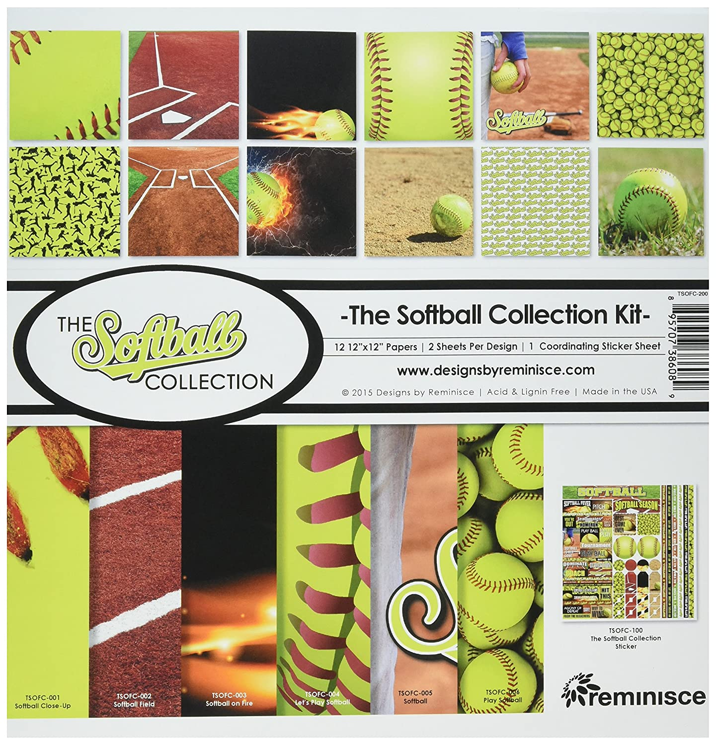 Reminisce TSOFC-200 Softball Collection Kit, 12