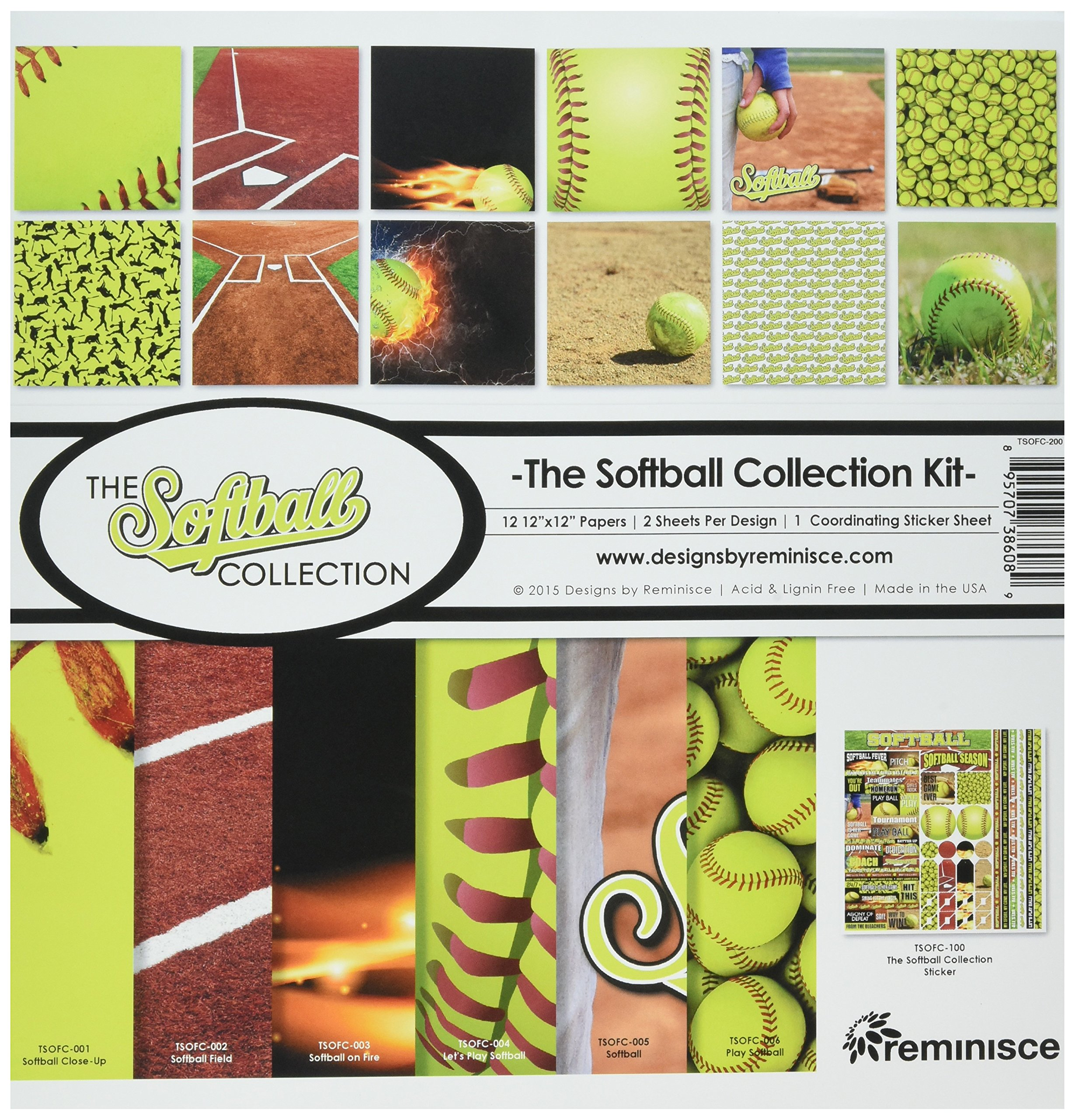 Reminisce The Softball Collection Kit by Reminisce