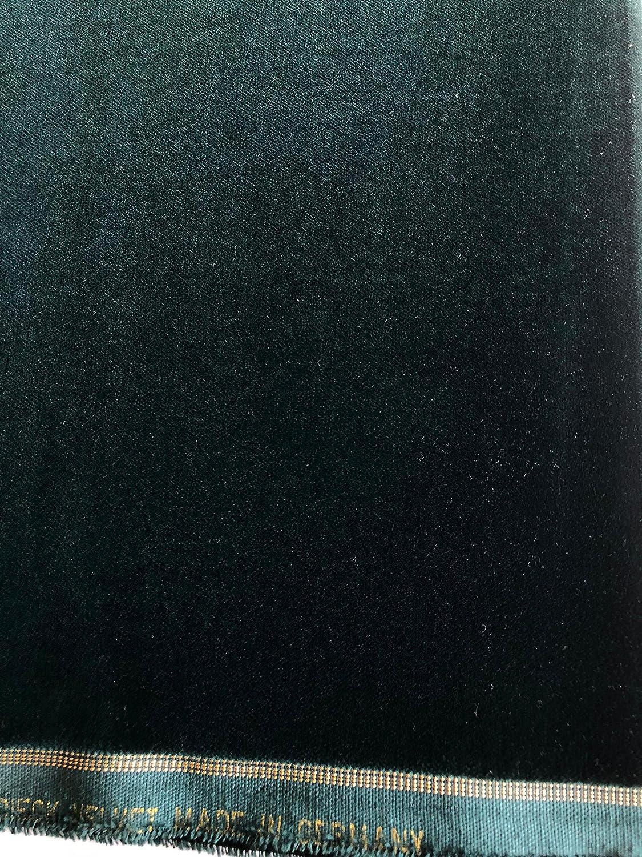 Samt Stoff mit Goldkante t/ürkis Farbe 9921 460gr // 150cm breit Meterware Baumwollsamt
