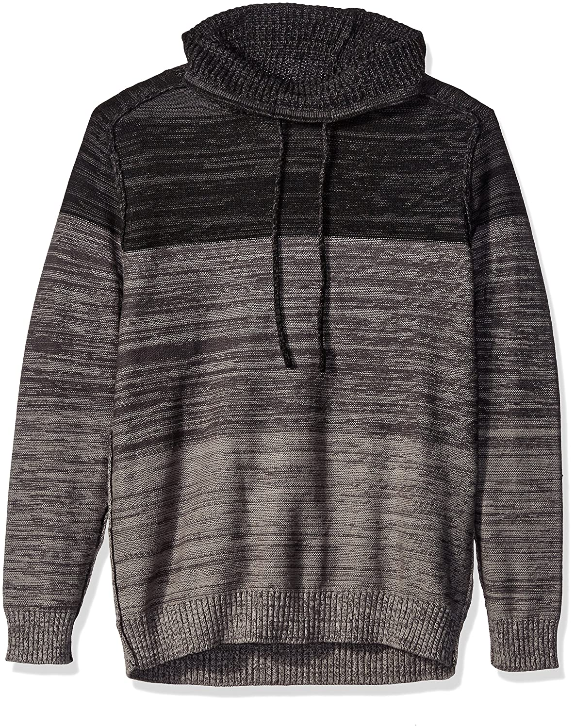 Blizzard Bay Men's Color Block Cowl Neck Sweater, Grey/Black Large Blizzard Bay Mens Apparel E60632
