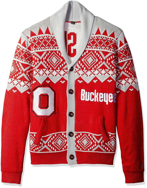 L FOCO NCAA Men's Ugly Cardigan Sweater