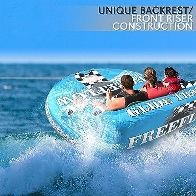 Boat Water Tube Towable Pulling Heavy Duty Tube Towable 1-4 Rider Boat Towable
