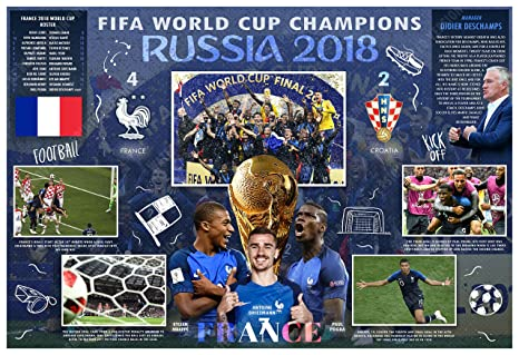 944fd49df Image Unavailable. Image not available for. Color  PosterWarehouse2017  FRANCE WINS THE 2018 FIFA WORLD CUP COMMEMORATIVE POSTER