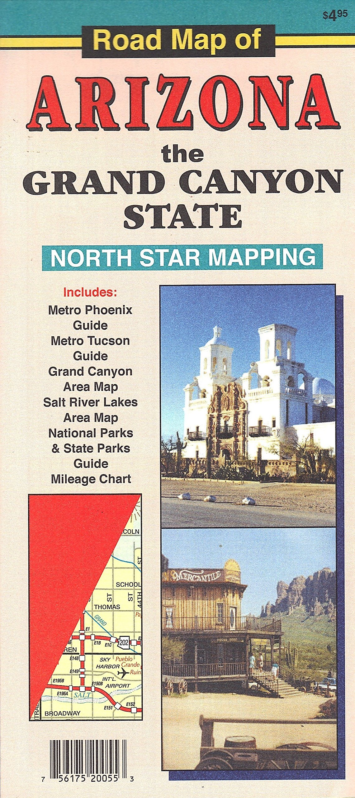 Road Map of Arizona the Grand Canyon State: Northstar ...