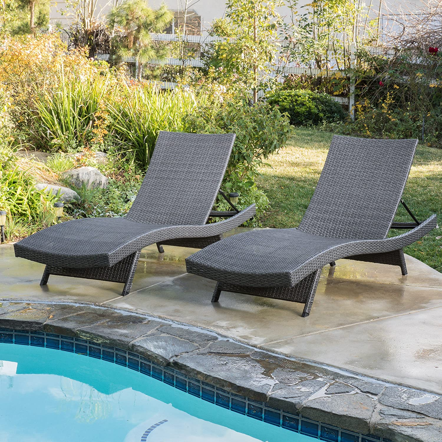 5. Patio Furniture Set With Black Detachable Cushions