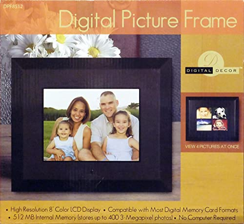 LOVCUBE 8Inch Digital Photo Frame with Screen Resolution 1024×768 HD Display Aspect Ratio 4 3, Motion Sensor, USB and SD Card Slots and Remote Control