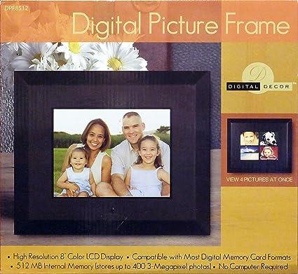 Amazon Digital Decor Dpf8512 8 Digital Photo Picture Frame